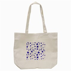 Sweet Shiny Flora Blue Tote Bag (cream)  by ImpressiveMoments