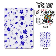 Sweet Shiny Flora Blue Multi Purpose Cards (rectangle)  by ImpressiveMoments