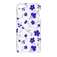 Sweet Shiny Flora Blue Apple Ipod Touch 5 Hardshell Case by ImpressiveMoments