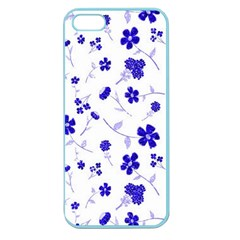 Sweet Shiny Flora Blue Apple Seamless Iphone 5 Case (color) by ImpressiveMoments