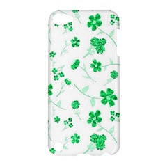 Sweet Shiny Floral Green Apple Ipod Touch 5 Hardshell Case by ImpressiveMoments