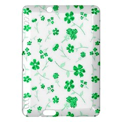 Sweet Shiny Floral Green Kindle Fire HDX Hardshell Case by ImpressiveMoments