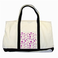 Sweet Shiny Floral Pink Two Tone Tote Bag  by ImpressiveMoments