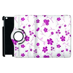 Sweet Shiny Floral Pink Apple Ipad 3/4 Flip 360 Case by ImpressiveMoments
