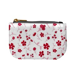 Sweet Shiny Floral Red Mini Coin Purses by ImpressiveMoments