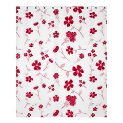 Sweet Shiny Floral Red Shower Curtain 60  X 72  (medium)  by ImpressiveMoments