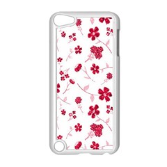 Sweet Shiny Floral Red Apple Ipod Touch 5 Case (white) by ImpressiveMoments