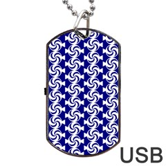 Candy Illustration Pattern Dog Tag USB Flash (Two Sides)  by creativemom
