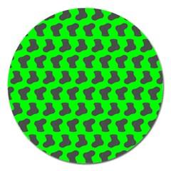Cute Baby Socks Illustration Pattern Magnet 5  (Round) by creativemom
