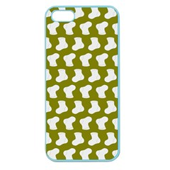 Cute Baby Socks Illustration Pattern Apple Seamless Iphone 5 Case (color) by creativemom
