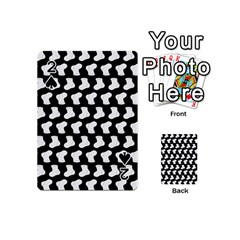 Black And White Cute Baby Socks Illustration Pattern Playing Cards 54 (Mini)  by creativemom