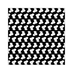 Black And White Cute Baby Socks Illustration Pattern Acrylic Tangram Puzzle (6  x 6 ) by creativemom
