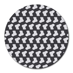 Cute Baby Socks Illustration Pattern Round Mousepads by creativemom