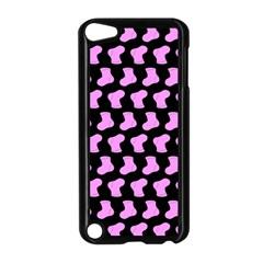 Cute Baby Socks Illustration Pattern Apple Ipod Touch 5 Case (black)