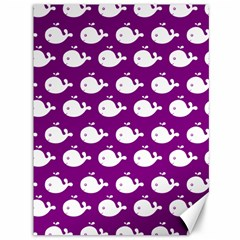 Cute Whale Illustration Pattern Canvas 36  x 48   by creativemom