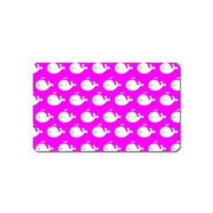 Cute Whale Illustration Pattern Magnet (Name Card) by creativemom