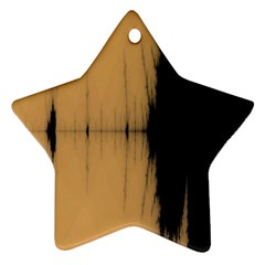 Sunset Black Star Ornament (two Sides)  by theunrulyartist