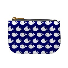 Cute Whale Illustration Pattern Mini Coin Purses by creativemom