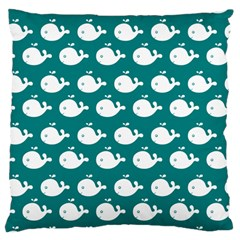 Cute Whale Illustration Pattern Large Cushion Cases (two Sides)  by creativemom