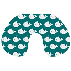Cute Whale Illustration Pattern Travel Neck Pillows by creativemom