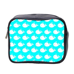 Cute Whale Illustration Pattern Mini Toiletries Bag 2-Side by creativemom