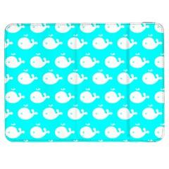 Cute Whale Illustration Pattern Samsung Galaxy Tab 7  P1000 Flip Case by creativemom