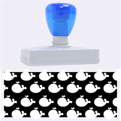 Cute Whale Illustration Pattern Rubber Address Stamps (xl) by creativemom