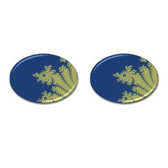 Blue And Green Design Cufflinks (oval) by theunrulyartist