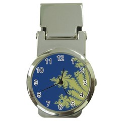 Blue And Green Design Money Clip Watches by theunrulyartist
