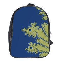 Blue And Green Design School Bags(large)  by theunrulyartist
