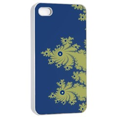 Blue And Green Design Apple Iphone 4/4s Seamless Case (white) by theunrulyartist