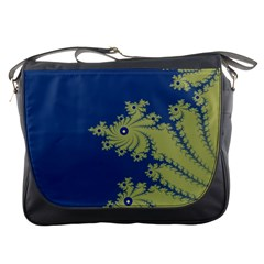 Blue And Green Design Messenger Bags by theunrulyartist