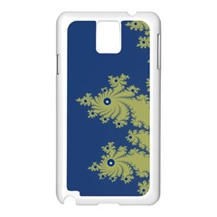 Blue And Green Design Samsung Galaxy Note 3 N9005 Case (white) by theunrulyartist