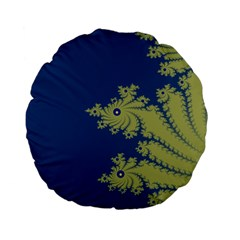 Blue And Green Design Standard 15  Premium Flano Round Cushions by theunrulyartist