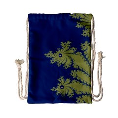Blue And Green Design Drawstring Bag (small) by theunrulyartist