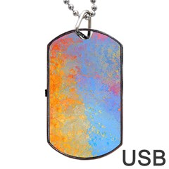 Hot And Cold Dog Tag Usb Flash (one Side) by theunrulyartist