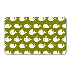 Cute Whale Illustration Pattern Magnet (Rectangular) by creativemom