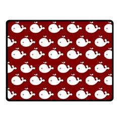 Cute Whale Illustration Pattern Fleece Blanket (small) by creativemom
