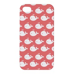 Cute Whale Illustration Pattern Apple Iphone 4/4s Hardshell Case by creativemom