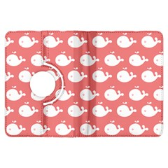 Cute Whale Illustration Pattern Kindle Fire HDX Flip 360 Case by creativemom