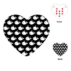 Cute Whale Illustration Pattern Playing Cards (heart)  by creativemom