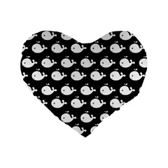 Cute Whale Illustration Pattern Standard 16  Premium Flano Heart Shape Cushions by creativemom
