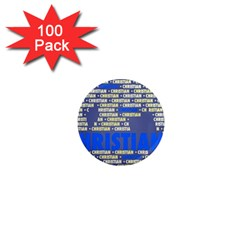 Christian 1  Mini Magnets (100 pack)  by MoreColorsinLife