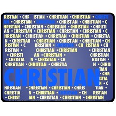 Christian Double Sided Fleece Blanket (Medium)  by MoreColorsinLife