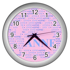 Anne Wall Clocks (silver)  by MoreColorsinLife