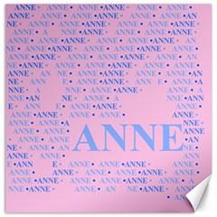 Anne Canvas 12  X 12   by MoreColorsinLife