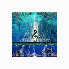 Clef With Water Splash And Floral Elements Collage 12  x 18  by FantasyWorld7