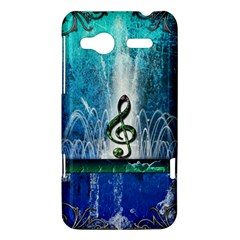Clef With Water Splash And Floral Elements HTC Radar Hardshell Case  by FantasyWorld7