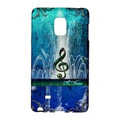 Clef With Water Splash And Floral Elements Galaxy Note Edge