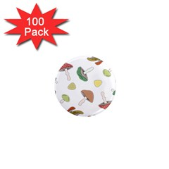 Mushrooms Pattern 02 1  Mini Magnets (100 Pack)  by Famous